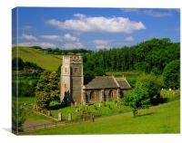 All Saints Church Eggesford, Canvas Print
