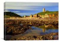 Wembury Beach & St Werburghs Church, Canvas Print