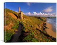 Wheal Coates & North Cornwall Coastline, Canvas Print