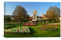 Vivary Park Gardens & Cenotaph, Canvas Print