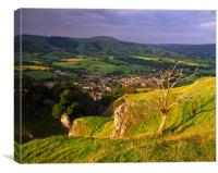 Castleton & Lose Hill from above Cave Dale, Canvas Print