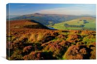 Ladybower Reservoir from Whinstone Lea Tor, Canvas Print