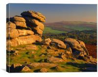Pew Tor,Dartmoor, Canvas Print