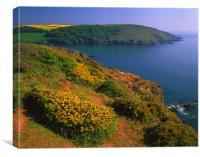 Yealm Estuary & Gara Point, Canvas Print