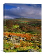 Great Mis Tor from Vixen Tor, Canvas Print