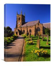 St Giles Church,Matlock, Canvas Print