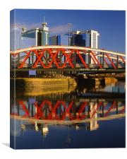 Trafford Road Bridge,Salford, Canvas Print