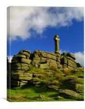 Brat Tor & Widgery Cross,Dartmoor, Canvas Print