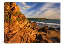 Bigbury on Sea Looking Towards Hope Cove, Canvas Print