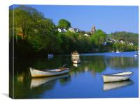 Noss Mayo & River Yealm, Canvas Print