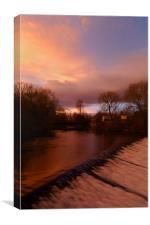 Sandersons Weir Sunset, Canvas Print