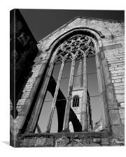 Charles Church Ruin,Plymouth, Canvas Print