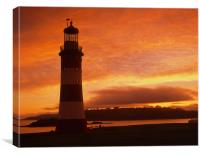 Smeatons Tower Sunset, Canvas Print