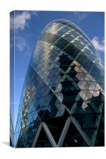 30 St Mary Axe,The Gherkin,London, Canvas Print