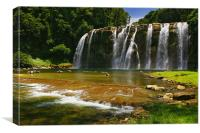 Tinuy-an Falls, Mindanao, Philippines, Canvas Print