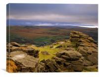 Great Staple Tor,Dartmoor, Canvas Print