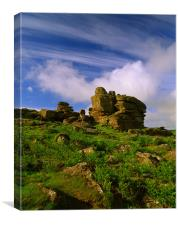 Hound Tor, Dartmoor, Canvas Print
