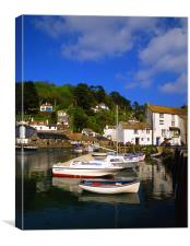 Polperro Harbour,Cornwall, Canvas Print