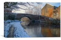 Bacon Lane Bridge & Sheffield Canal, Canvas Print
