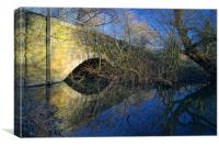 Pastures Road Bridge, Denaby Ings Nature Reserve, Canvas Print
