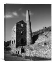 Wheal Coates Engine House, Cornwall, Canvas Print