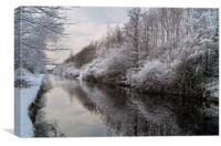 Sheffield Canal, Canvas Print
