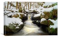 Winter In Padley Gorge, Canvas Print
