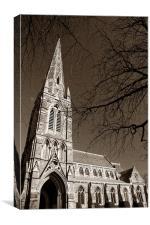 St Johns Church, Ranmoor, Sheffield, Canvas Print