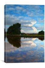 Reflections of Eggborough, Canvas Print