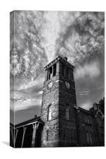 Firth Park Clock Tower, Sheffield, Canvas Print