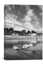 Lyme Regis Seafront & Lifeguard Raft, Canvas Print