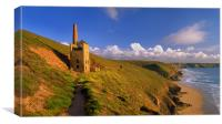 Wheal Coates & North Cornwall Coastline, Canvas Print