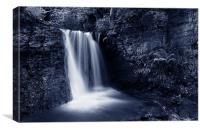 Peak District Waterfall, Canvas Print