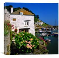 Old Watch House & Polperro Harbour, Canvas Print