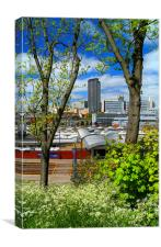 Springtime in Sheffield, Canvas Print