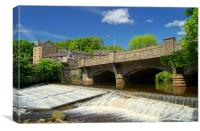 River Don at Oughtibridge, Canvas Print