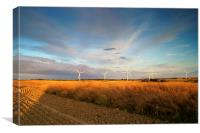 Wind Turbines in South Yorkshire, Canvas Print