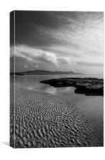 Lyme Regis Main Beach & View across Lyme Bay, Canvas Print