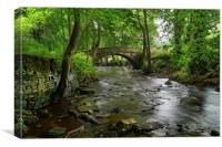 Bridge over River Rivelin, Canvas Print