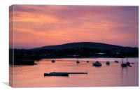 Swanage Sunset, Canvas Print