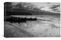Sunrise over Swanage Bay, Dorset, Canvas Print