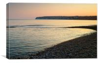 Sunset over Beer Head, Canvas Print