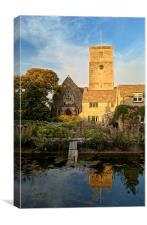 St Marys Church & Mill Pond, Swanage, Canvas Print