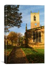 St Helens Church, Treeton, South Yorkshire, Canvas Print