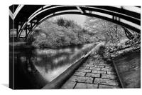 Supertram Bridge & Sheffield Canal, Canvas Print