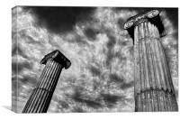 Amphitheatre Columns,Swanage, Canvas Print