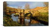 Slippery Stones Packhorse Bridge, Canvas Print