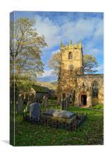 St Edmunds church, Castleton, Canvas Print
