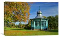 Weston Park Bandstand, Canvas Print