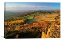 View from Millstone Edge towards Hathersage, Canvas Print